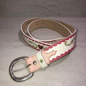 Vintage Bill Adler Design belt unique pattern M/L